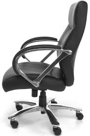 811 lx black avenger series big and tall mid back office chair in executive chairs blk