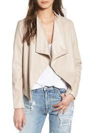 bb dakota peppin d front faux leather jacket