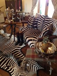 close antique zebra leather chair
