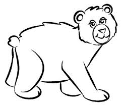 Small Picture Cartoon Bear Coloring Pages by Lisa coloring page Pinterest