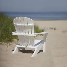 adirondack chairs on beach. Perfect Chairs POLYWOOD Seashell Adirondack Chair And Chairs On Beach A