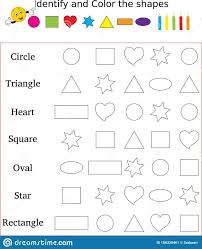 Download over 3000+ pages of free printable pre k worksheets & learning games to make learning fun for preschoolers! Identify And Color The Correct Shape Worksheet Stock Image Preschool Worksheets Colors Preschool Worksheets Colors And Shapes Worksheets Math Making Middle School Math Praxis Book Vocab Test Maker Math Made Easy 4th