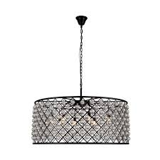 elegant lighting madison 10 light mocha brown royal cut crystal clear pendant