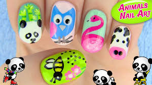 5 Basic Nail Art Designs Animals Nail Art 5 Nail Art Designs In This Nail Tutorial