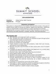 Sample Resumes Math Teacher Resume Examples Format For Teaching Job