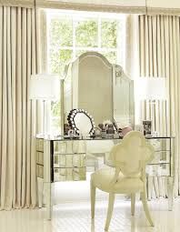 mirrored vanity furniture. Upholstered Chair And Mirrored Glass Bedroom Vanity Table With Storage Drawers Furniture D