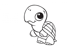 Simplistic Cute Baby Animal Coloring Pages Dragoart Popular Animals