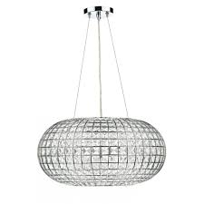 dar lighting plaza pla0350 polished chrome 3 light pendant
