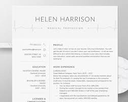 Nurse Cv Template Unique Nurse Resume Template For Word Nursing Resume Template Etsy