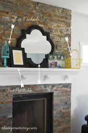 Fireplace Ideas Diy Building Our Fireplace Installing The Slate Split Face Tile Our