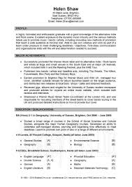 General Resume Examples General Cv Examples Uk Resume Sample For