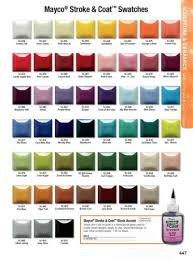 Glaze Color Chart Stroke Coat Color Chart In 2019 Ceramics Glaze Clay