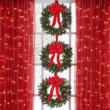 set of 3 cordless pre lit mini christmas wreaths wreaths