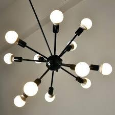 edison light bulb chandelier industrial in vintage loft style black finish lights 6 bu