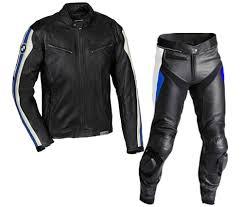 bmw motorbike black leather suit