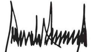 Image result for TRUMP SIGNATURE