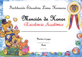 formato mencion de honor plantillas para mencion de honor diplomas y menciones de