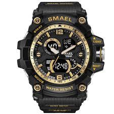 <b>SMAEL</b> Dual Display Waterproof Sports <b>Watch Digital Watch</b> Quartz ...