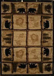 5x8 bear lodge cabin southwest area rug rugs pine black log cabin bathroom rugs