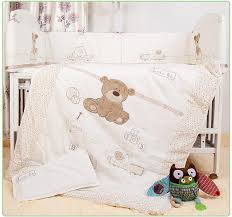 whole baby bedding set for crib newborn baby bed linens for girl boy cartoon bear detachable cot pers sheet quilt full kids bedding kids bedspreads