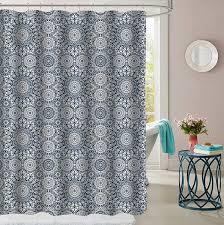 Parkview Blue <b>Diamond Pattern</b> Fabric Bathroom Shower Curtain 70 ...