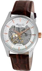 men s kenneth cole automatic skeleton watch 10027198