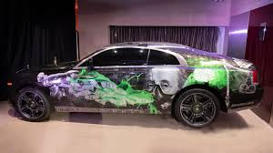 Rolls Royce Auctioned Wraith With Custom Paintjob For Charity