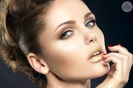 editorial makeup artistry job with model