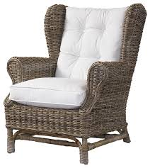 padmas plantation wing chair kubu with white cushion