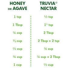 Truvia To Stevia Conversion Chart Truvia Nectar Stevia Sweetener And Honey Blend 3 52 Oz Bottle