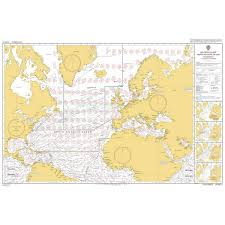 Admiralty Chart 5124 11 Routeing Chart North Atlantic Ocean November
