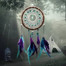 Dream Catcher Group Home Beautiful Dream Catcher hand woven Dreamcatcher with blue purple 10