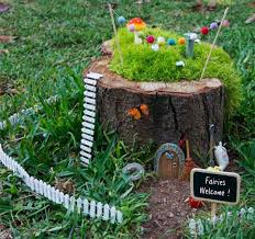 Fantasize, imagine and experiment to design a tree stump fairy garden. If  you have children take help of them, ask them what to do with it. They'll  love it.