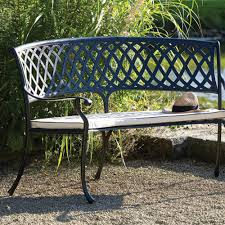 metal curved outdoor bench
