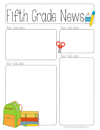 Teachers Newsletter Templates Completely Editable Newsletter For All Grades School