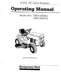 montgomery ward lawn mower tmo 33905 a user guide manualsonline com