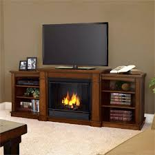 gel fuel fireplace tv stand with cabinet and book inside