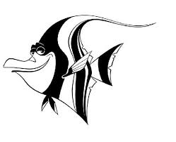 Black And White Coloring Page Finding Nemo Get Coloring Pages