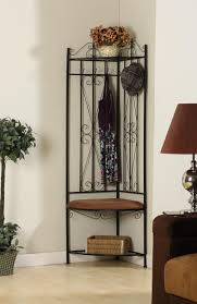 Hall Storage Bench And Coat Rack Black Metal Corner Entryway Hallway Storage Bench Hall Tree Coat 31