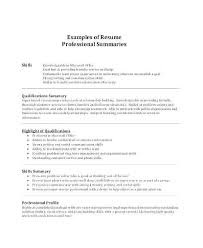 Professional Qualifications Resume Simple Professional Qualifications Resume Unique Skills Summary Resume