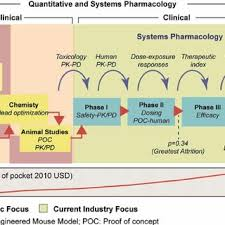 Traditional drug discovery phases in which QSP can have an impact. QSP aims  to fill