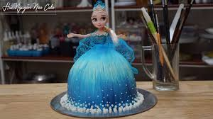 Bánh Sinh Nhật Búp Bê Elsa Trang Trí Vẽ Hình Và Váy Ren - Decorate Elsa  Cake Easy to Make - YouTube
