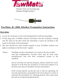 tm500 vehicle signal light wireless transmitter user manual 06 4l towmate wireless light bar wiring diagram page 1 of tm500 vehicle signal light wireless transmitter user manual 06 4l 3600 x
