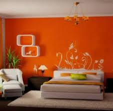 modern bedroom paint designs. beautiful orange paint colors bedroom wall design with white modern designs