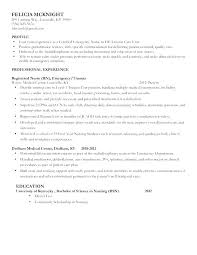 Example Of A Nursing Resume Impressive Resume Nurse Objective Er Nursing Resume Sample Nursing Resume Er