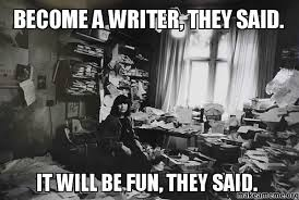 Image result for writer problem memes