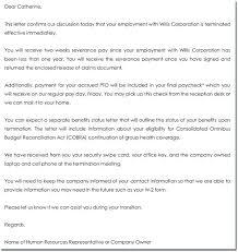 Sample Cobra Termination Letter Termination Letter Of Benefits Cobra Employee Meltfm Co