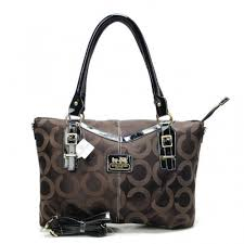 Coach Logo In Signature Large Coffee Totes CBT