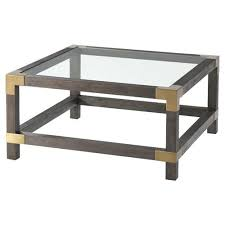square brown wood coffee table