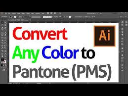 Cmyk To Pantone Color Conversion Chart Convert Cmyk To Pantone Color In Adobe Illustrator Trick